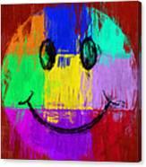 Abstract Smiley Face Canvas Print