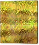 Abstract Vector Square Pixel Mosaic Canvas Print