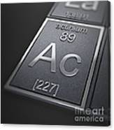 Actinium Chemical Element Canvas Print
