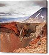 Active Volcanoe Cone Of Mt Ngauruhoe New Zealand Canvas Print