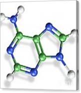 Adenine Molecule, Artwork Canvas Print
