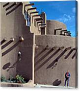 Adobe Architecture In Santa Fe Canvas Print