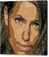 Adriana Lima Supermodel Canvas Print