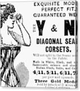 Advertisement Corset Canvas Print