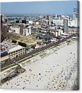 Aerial Of Downtown Atlantic City Canvas Print