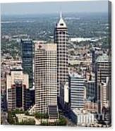 Aerial Of Downtown Indianapolis Indiana Canvas Print