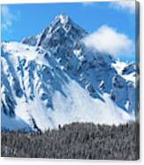 Aerial Of Mount Sneffels With Snow Canvas Print