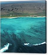 Aerial Of Ningaloo Reef And Cape Range Canvas Print