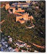 Aerial Photo  Alhambra And Albaycin In Granada Canvas Print