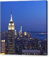 Aerial View Of Empire State And Midtown Canvas Print