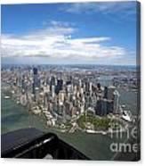 1-aerial View Of Manhattan Canvas Print