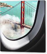 Aerial View Of San Francisco Golden Canvas Print