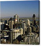 Aerial View Of Skyscrapers In A City Canvas Print