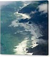 Aerial View Of Tasman Sea Shore Nz North Island Canvas Print