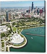 Aerial View Of The Downtown In Chicago Canvas Print