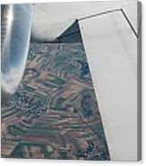 Airplane Wing And Turbine Canvas Print