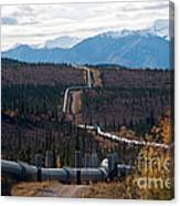 Alaska Oil Pipeline Canvas Print