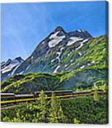 Alaska Railroad To Denali Canvas Print