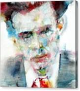 Aldous Huxley - Watercolor Portrait Canvas Print