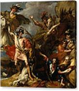 Alexander IIi Of Scotland Rescued From The Fury Of A Stag By The Intrepidity Of Colin Fitzgerald  Canvas Print