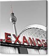 Alexander Platz - Berlin Canvas Print