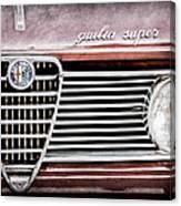 Alfa-romeo Guilia Super Grille Emblem Canvas Print