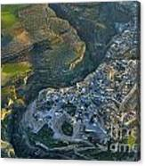 Alhama De Granada From The Air Canvas Print