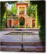 Alhambra In Granada Canvas Print
