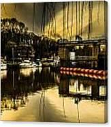 Alyesford Lock Canvas Print