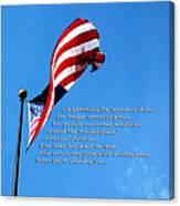 America The Beautiful - Us Flag By Sharon Cummings Song Lyrics Canvas Print