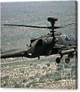 An Apache Ah64d Helicopter Canvas Print
