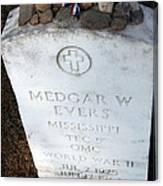 Medgar Evers -- An Assassinated Veteran Canvas Print