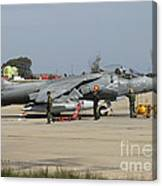 An Av-8b Harrier II Of The Spanish Navy Canvas Print