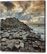 An Evening View Of The Giants Causeway Canvas Print