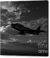 An F-86f Sabre In Flight Near Glendale Canvas Print