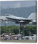 An Fa-18 Super Hornet Of The U.s. Navy Canvas Print