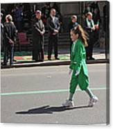An Irish Lassie Marching In The 2009 St. Patrick Day Parade Canvas Print