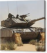 An Israel Defense Force Magach 7 Main Canvas Print