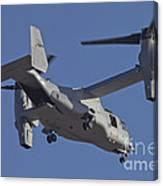 An Mv-22b Osprey Prepares For Landing Canvas Print