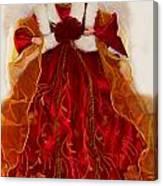 Angel Christmas Card Canvas Print