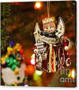 Angel Christmas Ornament Canvas Print