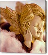 Angel Resting On Clouds And Enjoying The Sun Canvas Print