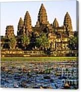 Angkor Wat At Sunset - Cambodia Canvas Print