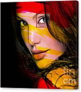 Angleina Jolie Canvas Print