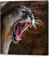 Angry Cougar 1 Canvas Print