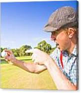 Angry Golf Canvas Print
