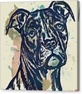 Animal Pop Art Etching Poster - Dog - 4 Canvas Print