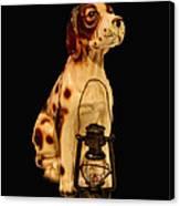 Antique Dog W Lantern Canvas Print