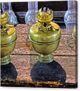 Antique Kerosene Lamps Canvas Print