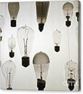 Antique Light Bulbs Canvas Print